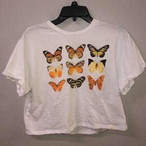 Tops - Vintage butterfly crop top